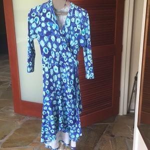b5cd833835131 Dresses - Lilly Pulitzer Royal Purple Lil Kitty Wrap Dress